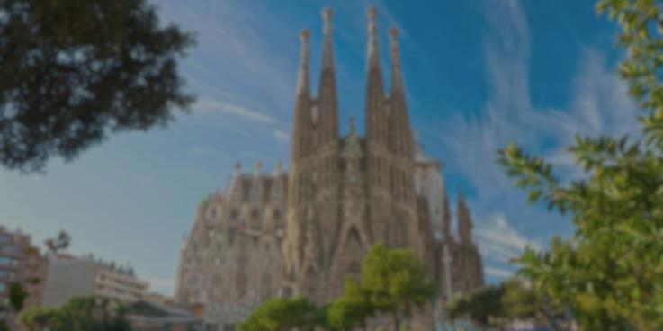 Cirugía de la Catarata - Imagen que representa cómo vería la Sagrada Familia un paciente con catarata