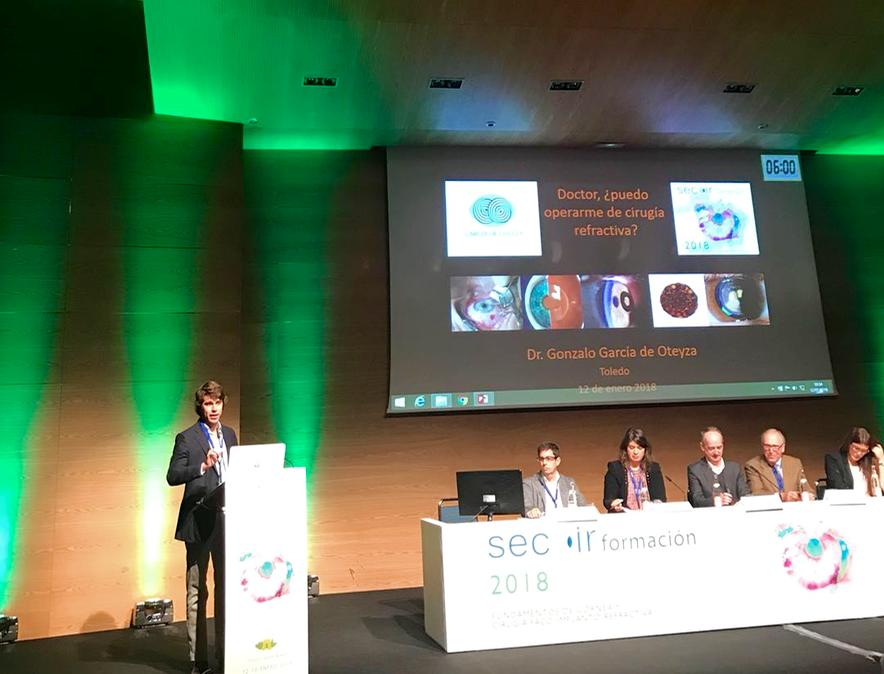 Comunicación sobre Cirugía Refractiva en el SECOIR por el Dr. G. García de Oteyza